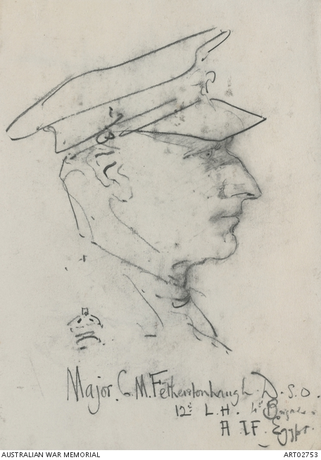 Major Cuthbert Fetherstonhaugh, by George Lambert. ART02753