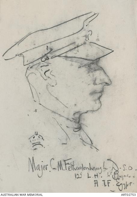 Major Cuthbert Fetherstonhaugh, by George Lambert. ART02753
