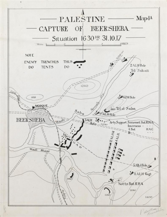 Beersheba Situation Map (pre-charge)