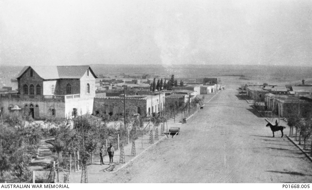 Main street of Beersheba shortly after its capture. P01668.005